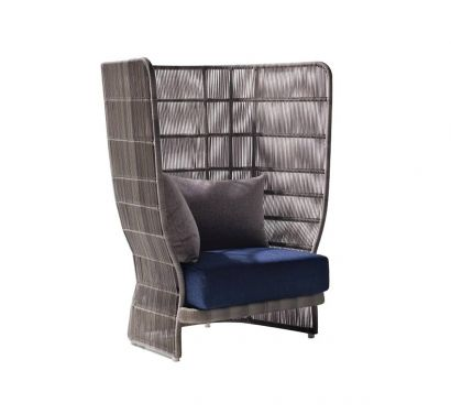 Canasta '13 Armchair with High Back - Outdoor