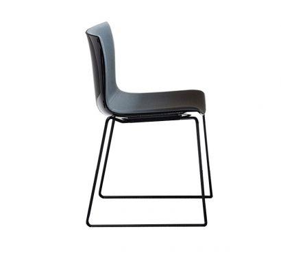 Catifa 46 Chair - Sled Base / Polypropylene - Front Upholstery