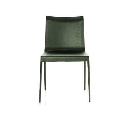 Charlotte Chair - Green Leather