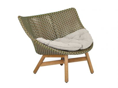 Mbrace Lounge Chair - 151 Chestnut / Seat Cushion Cat. A Cool Sage