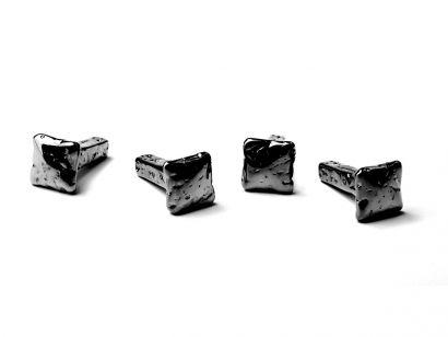 Chiodo Schiaccia Chiodo Wall Hanger - 4 Pz in Giftbox Black