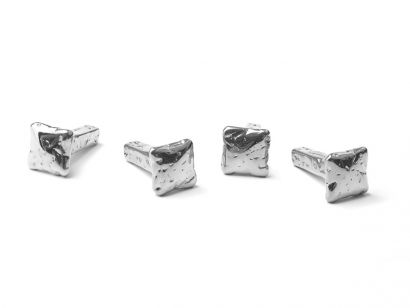 Chiodo Schiaccia Chiodo Wall Hanger - 4 Pcs in Giftbox Nickel