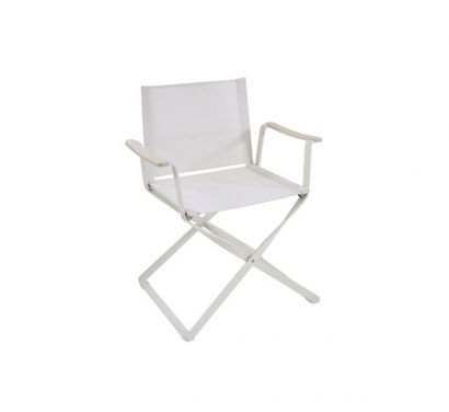 Ciak Folding Director Chair-White