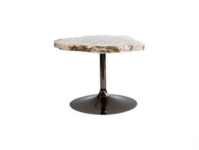 Cicladi Table Basse H.43 cm - Naturel / Ruthenium