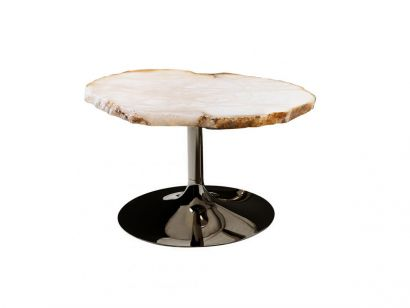 Cicladi Table Basse H.37 cm - Naturel / Ruthenium