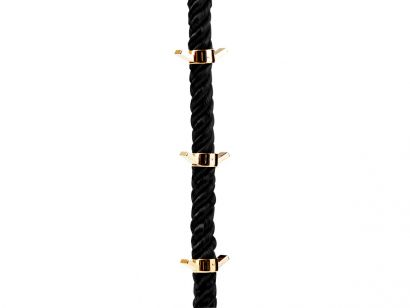 La Cima 3 Hanger Ceiling - Black Rope / Gold Hangers
