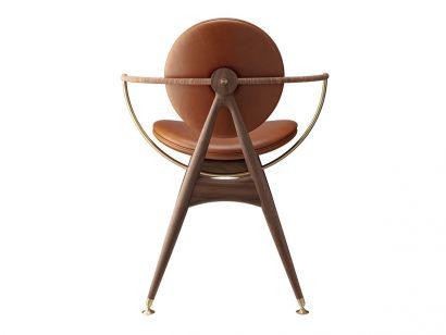 Circle Dining Chair Sedia con Braccioli