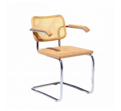 Cesca Chair Beech- with Armrest