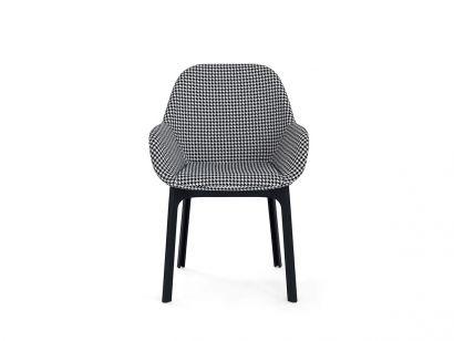 Clap Armchair - Black Structure / Black Pied de Poule