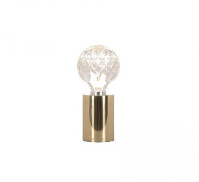 Clear Crystal Bulb Table Lamp