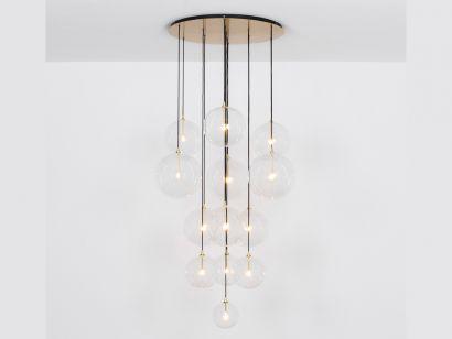 Cluster Mix 13 Chandelier Suspension Lamp