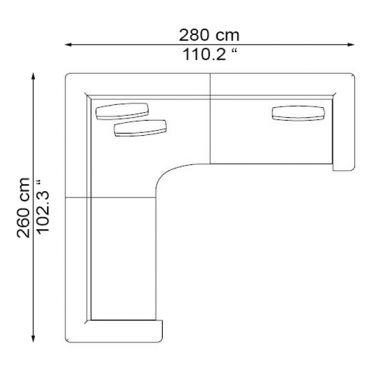 COMP. 2 SX - ELS-T140L + ELS-A140L + ELS-T140R