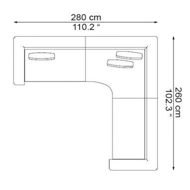 COMP. 2 DX - ELS-T140L + ELS-A140R + ELS-T140R