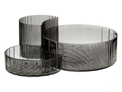 Concha Bowls & Dishes Grey - Set of 3