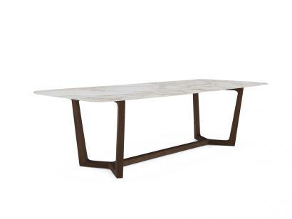 Concorde Table - Spessart Oak/Calacatta Gold Marble