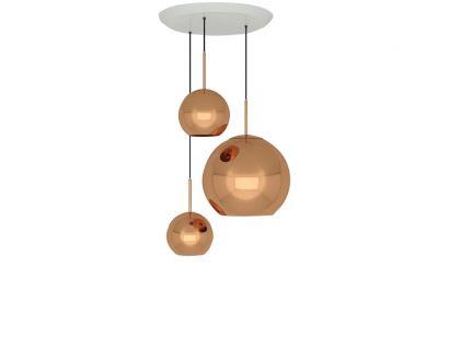 Copper Trio Pendant System Lampada a Sospensione
