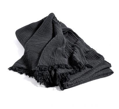 Crinkle Bedspread Anthracite