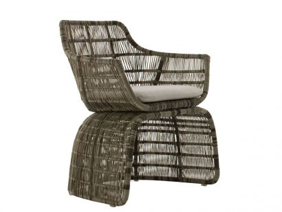 Crinoline Chaise avec Accoudoirs 65 cm