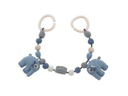 Crochet Pram Chain Fanto the Elephant