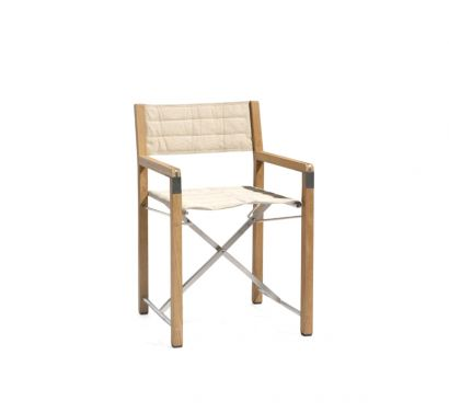 Cross Teak Folding Chair