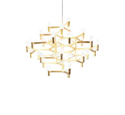 Crown Major Gold Satin - Pendant lamp