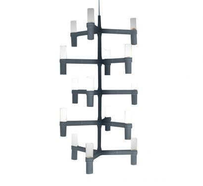 Crown Multi Polished Aluminium - Suspension Lamp