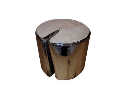Fuoriluogo Milano - Cube Small Round Stool - Metallized