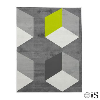 Cubizzmo Bech Grey/Charcoal & Lime Tappeto