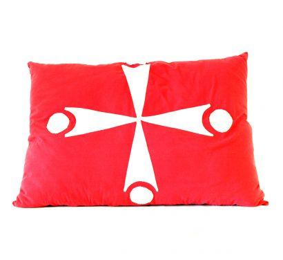Flag Cuschion Red/White