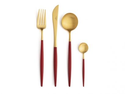 Goa Red Gold Set 24 Cutlery