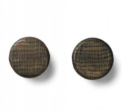 Wall Hooks Knobs  - Set of 2-Ash Dark