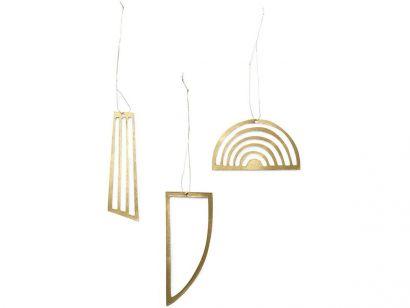 Golden Ornaments 24223 - Set of 3