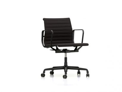 Vitra Aluminium Chair EA 117 - Office Chair - Chrome/Hopsak 66 Black