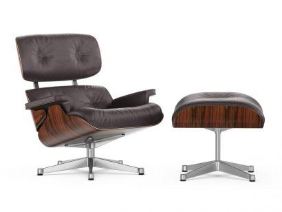 Eames Lounge Chair & Ottoman - Santos Palisander - Cuir Noir 66
