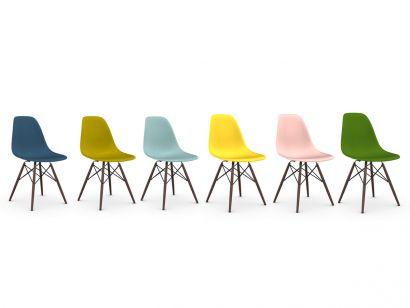 Eames Plastic Side Chair DSW Dark Maple / Set 6 Sedie Vitra
