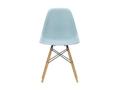 Eames Plastic Side Chair DSW - Sedia Acero Giallastro