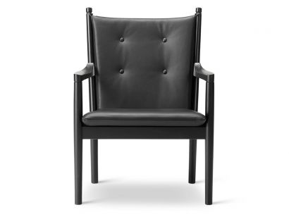 easy chair 1788 black leather\