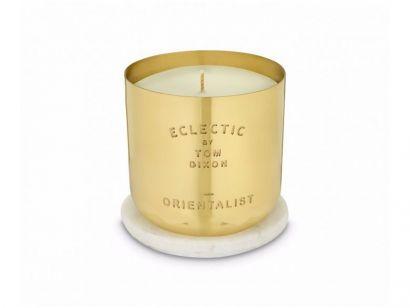 Eclectic Orientalist Candle - Medium - Brass Vessel