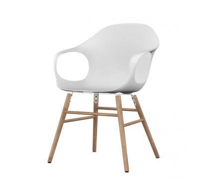 Elephant Chair - Oak legs/White