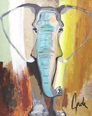 Elephant Colour 90x120