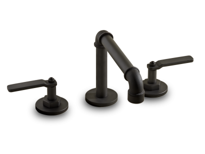 Deck Mounted 3 Hole Basin Set with Tall Spout - ELV08