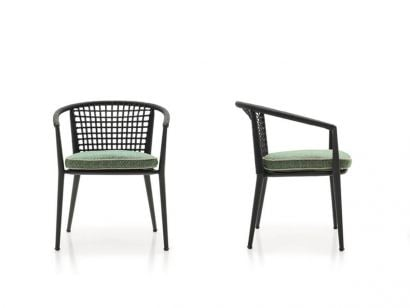 Erica '19 Outdoor Chair with Armrest - Stackable