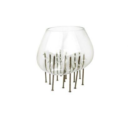 Fakir Dish Vase Glass And Metal