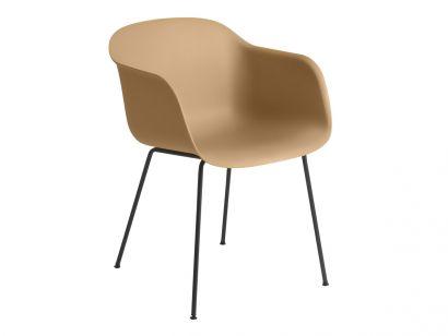 Fiber Armchair - Chaise Base Tubulaire en Métal