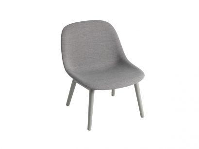 Fiber Lounge Chair / Base in Legno - Remix 133 Grigio