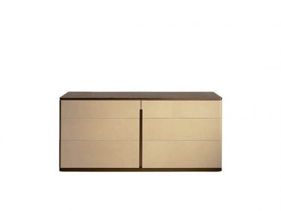 Fidelio Notte Chest of Drawers Saddle Avorio / Canaletto Walnut