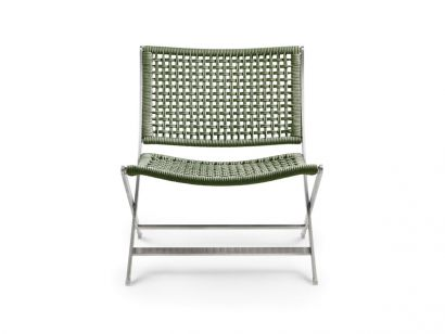 Peter Outdoor Armchair - Green 8006/Electropolished