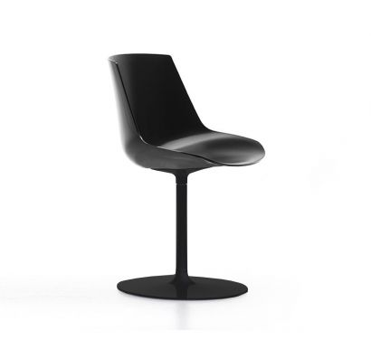 Flow Chair - Stelo Grafite Opaco/ Scocca Nero