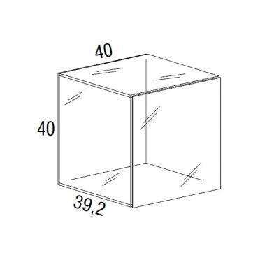 Net Unité de rangement en verre