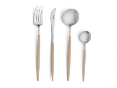 Cutipol - Goa Matt Brushed Ivory Set 75 pcs + Wood Chest